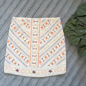 [Dina Be] embroidered mini skirt